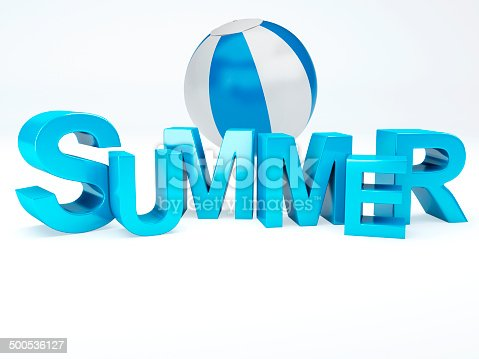 500536143istockphoto word summer with colourful letter 3D Illustration 500536127
