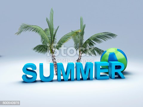 500536143istockphoto word summer with colourful letter 3D Illustration 500540975