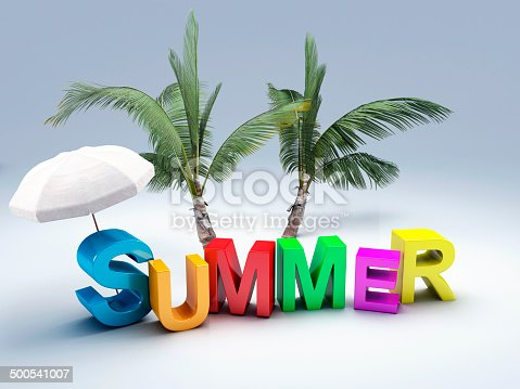 500536143istockphoto word summer with colourful letter 3D Illustration 500541007