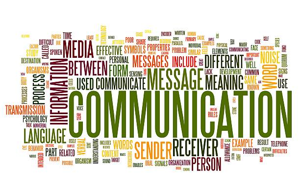 A word tag cloud about communication  stock photo
