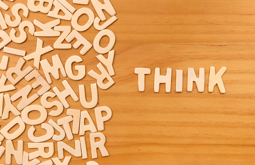 Word Think Made With Block Wooden Letters Stock Photo Download