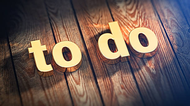 Word To Do on wood planks stock photo