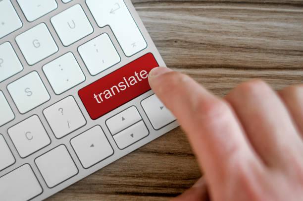 Wort zu übersetzen, auf Computer-Tastatur – Foto