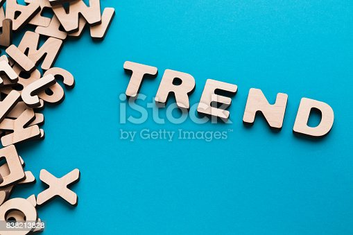 istock Word Trend on blue background 838213828