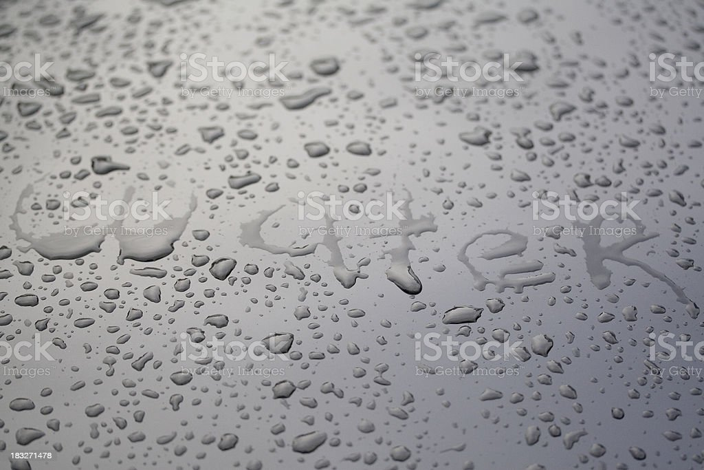 Word: Water 1 royalty-free stock photo