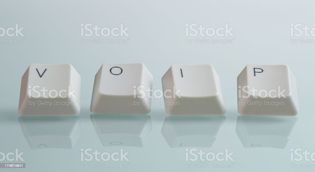 VOIP Word with Keys royalty-free stock photo