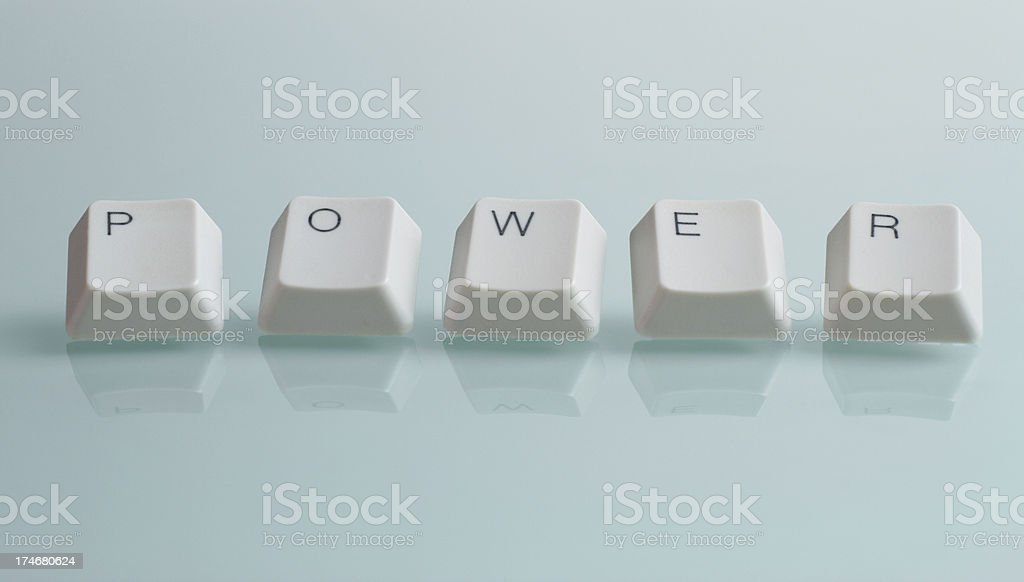 POWER Word with Keys royalty-free stock photo