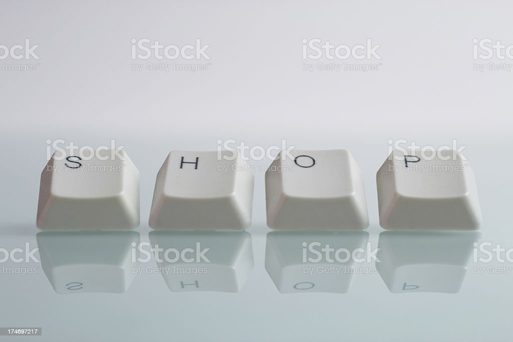 SHOP Word with Keys royalty-free stock photo