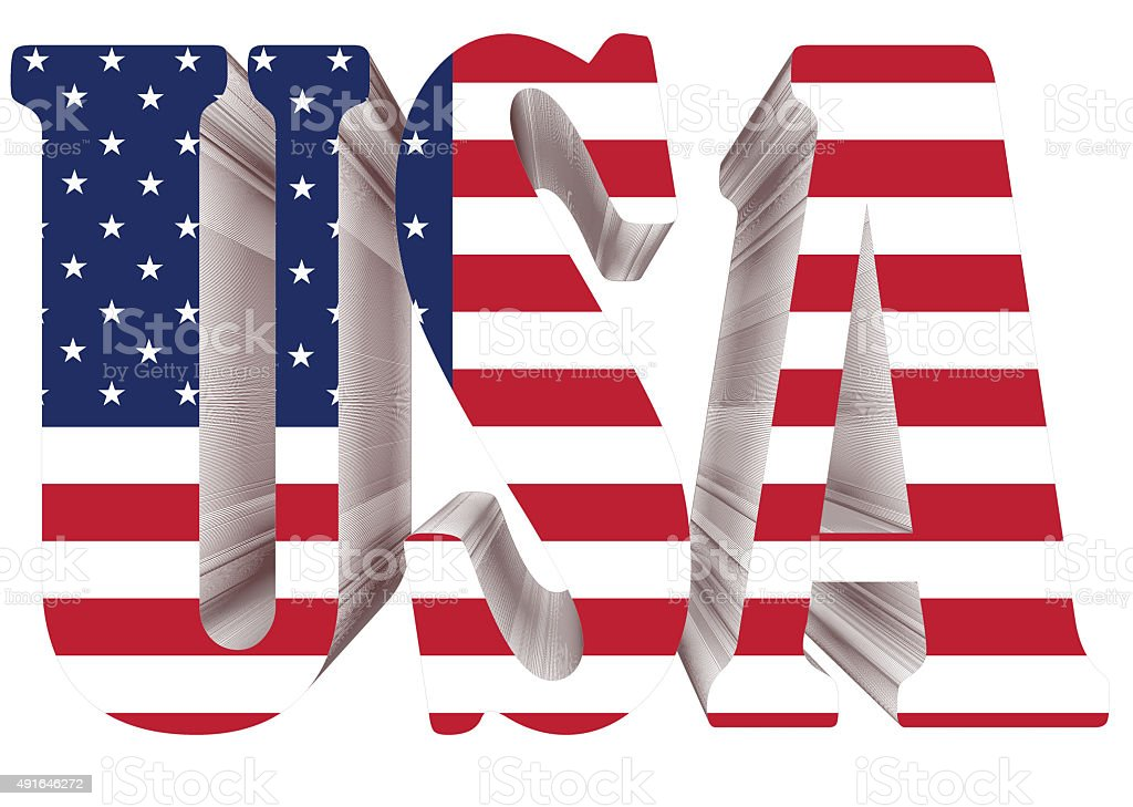 3d usa word with us flag stock photo more pictures of 2015 istock
