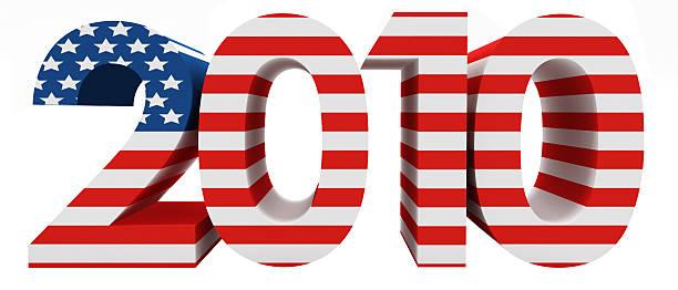 3 d parola con usa bandiera 2010 - 2010 foto e immagini stock