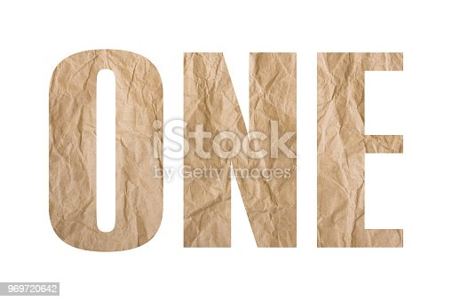 845307398istockphoto ONE word with wrinkled paper texture 969720642