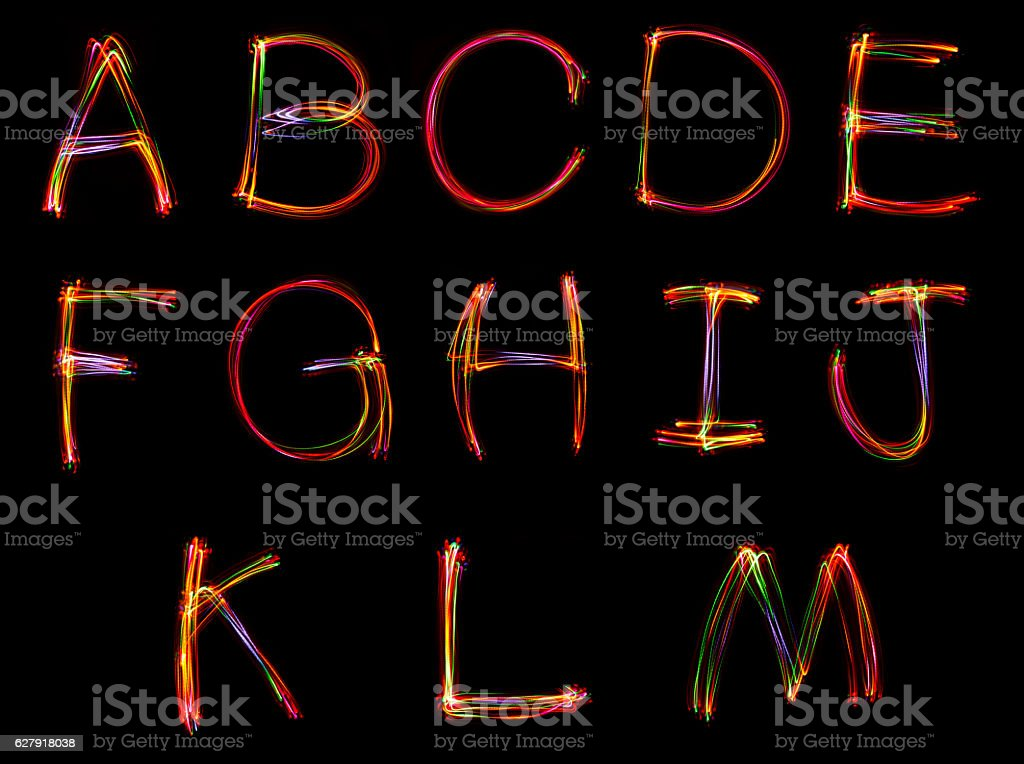 Word writing from light. stock photo