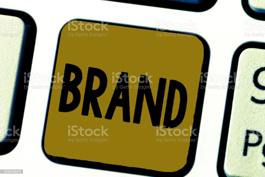 Word writing text Brand. Business concept for Type of product manufactured by a company under a particular name – zdjęcie