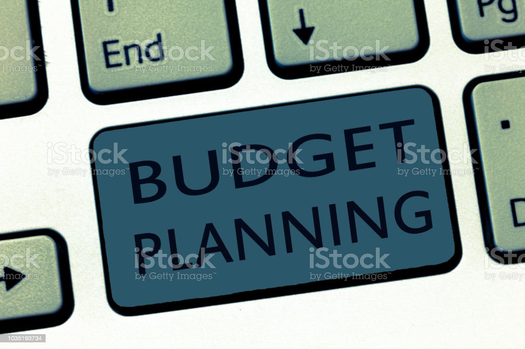 Word writing text Budget Planning. Business concept for The written description about current and future expenses stock photo