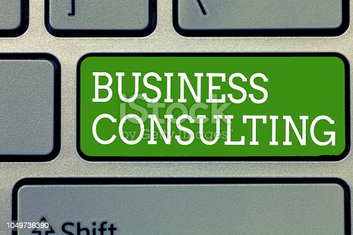 istock Word writing text Business Consulting. Business concept for Blends Practice of Academic Theoretical Expertise 1049736390