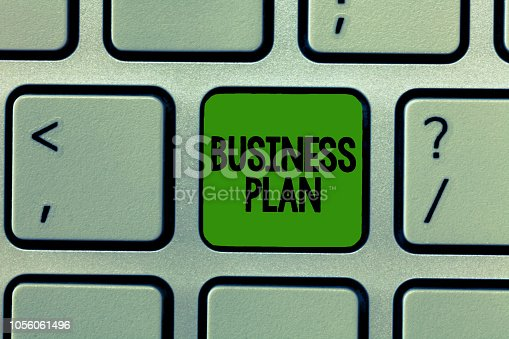 istock Word writing text Business Plan. Business concept for Structural Strategy Goals and Objectives Financial Projections 1056061496