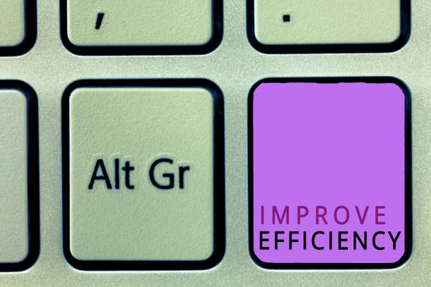 Word writing text Improve Efficiency. Business concept for Competency in performance with Least Waste of Effort stock photo