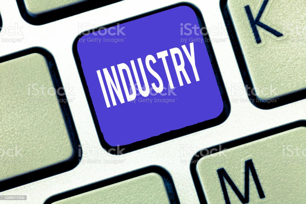 Word writing text Industry. Business concept for activity concerned with processing of materials analysisufacture goods stock photo