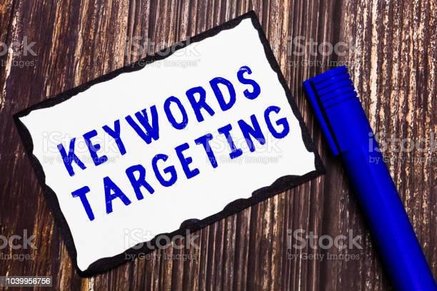 Word writing text keywords targeting business concept for use words picture id1039956756?b=1&k=6&m=1039956756&s=612x612&h=2o2u5mijecisjhqrdkljjhxaerkiy6aa0vqvp1qebzg=