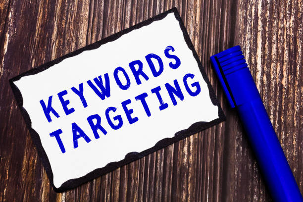 Word writing text Keywords Targeting. Business concept for Use Relevant Words to get High Ranking in Search Engines – zdjęcie