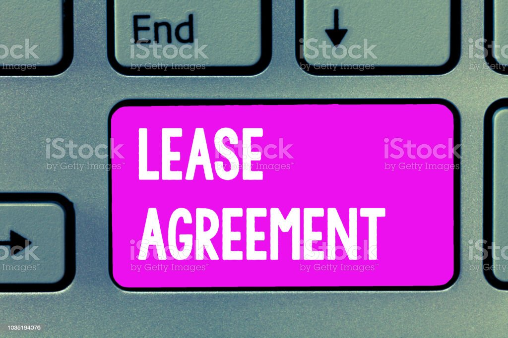 Word Writing Text Lease Agreement Business Concept For Contract On