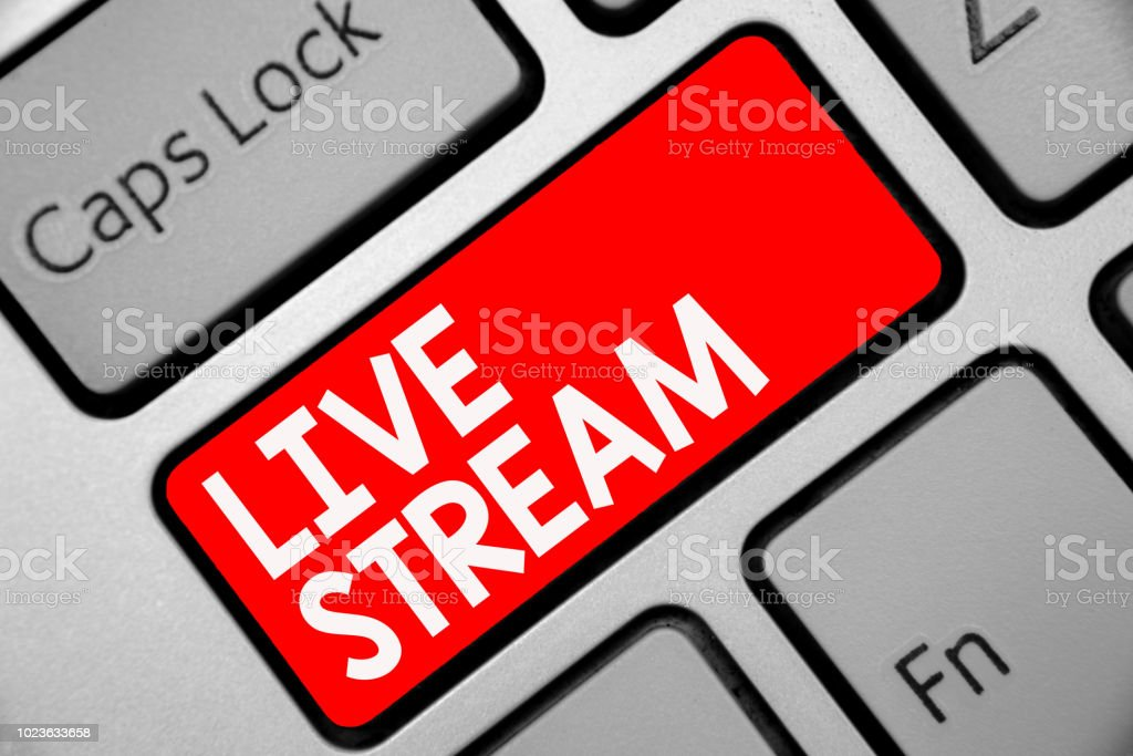 Word Writing Text Live Stream Business Concept For Transmit