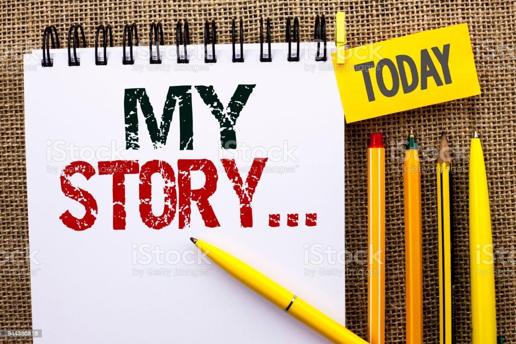 Foto De Palavra Escrita Texto My Story Conceito De Negócio
