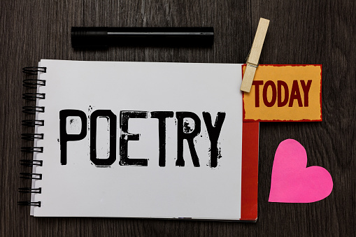 word writing text poetry business concept for literary