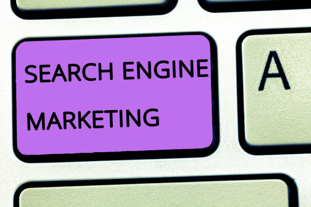 Word writing text Search Engine Marketing. Business concept for promote Website visibility on searched result pages – zdjęcie