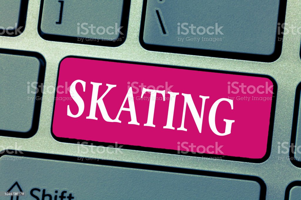 Word writing text Skating. Business concept for Action of skate Fun...