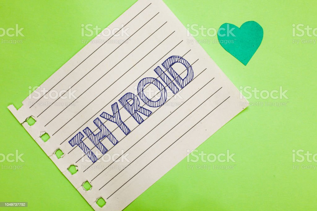 Word writing text Thyroid. Business concept for Gland in neck...