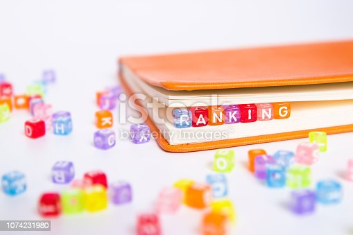 1128981457 istock photo RANKING word written on colorful bead 1074231980