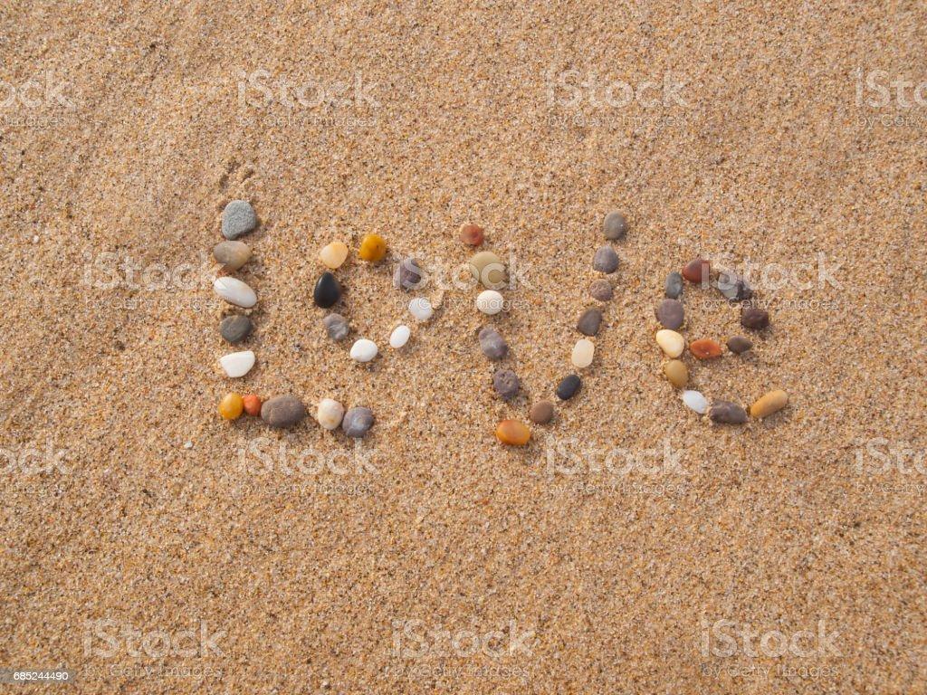 word written on sand royalty-free stock photo