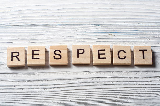 RESPECT word written on wood block ta wooden background RESPECT word written on wood block ta wooden background. dignity stock pictures, royalty-free photos & images
