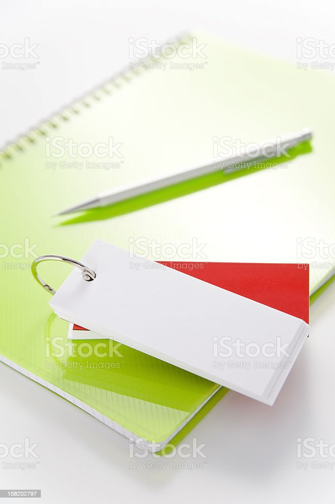 Wordbook and note. royalty-free stock photo