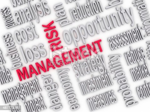 istock Wordcloud word tags of risk management 487773161