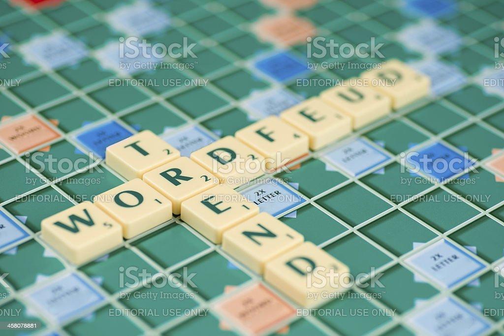 Wordfeud E Caselle Sono Il Programma Hype Fotografie Stock E Altre