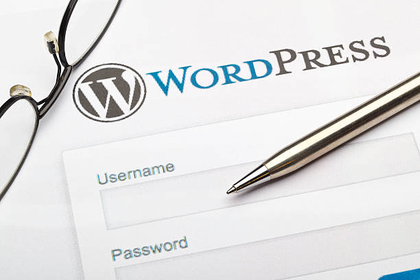 wordpress - website design fotografías e imágenes de stock