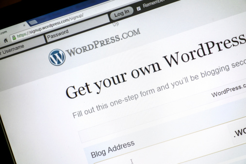 astersund, Sweden - August 26, 2012: WordPress is a free and open source blogging tool.