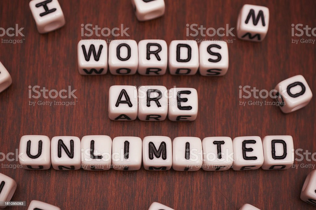 Words Are Unlimited royalty-free stock photo