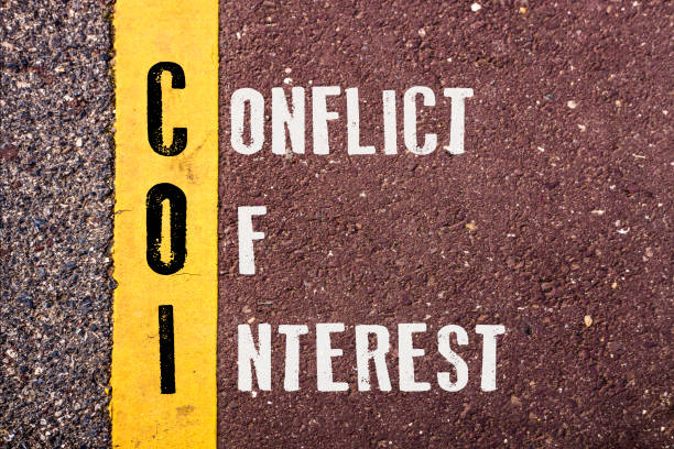 conflict of interest  words concept - interest rate stock photos and pictures