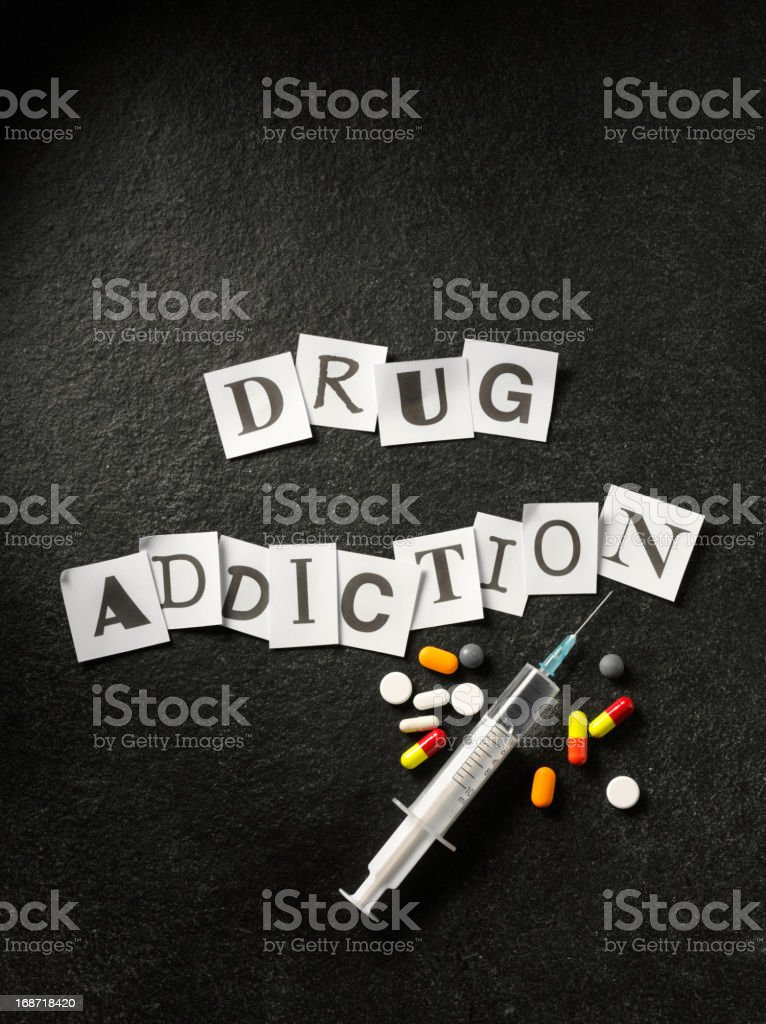 Words Drug Addiction stock photo