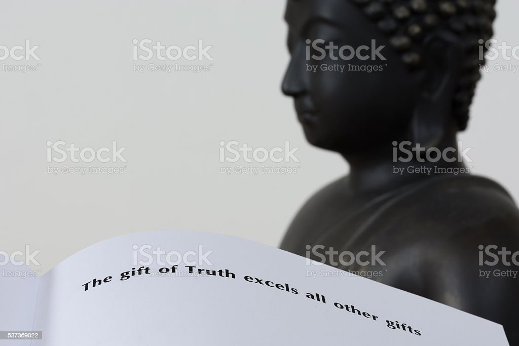 Words from the Buddha stock photo