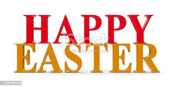 istock Words Happy Easter 1130196143