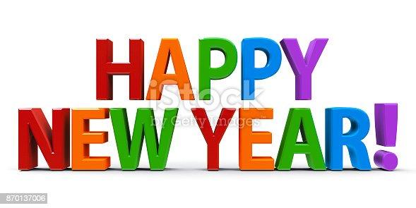 istock Words Happy New Year 870137006
