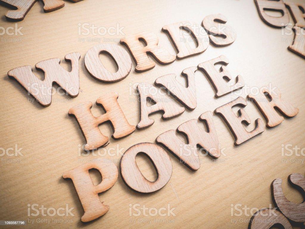 Las Palabras Tienen Concepto De Citas De Palabras De Poder