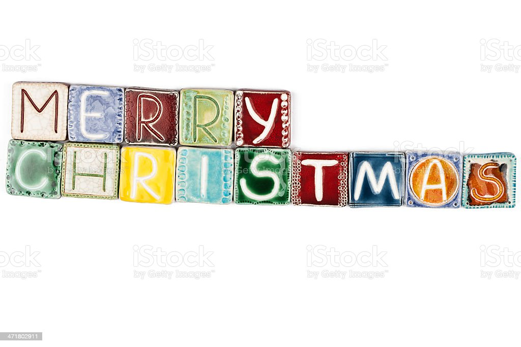 Words 'merry christmas' royalty-free stock photo