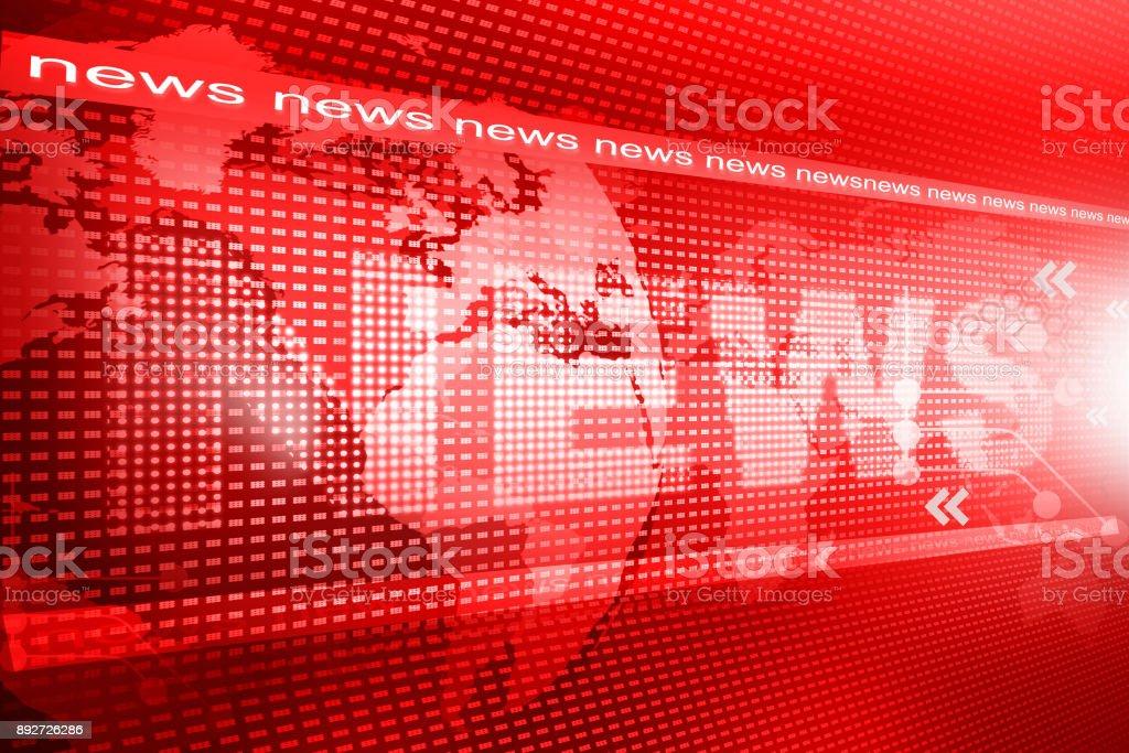 Wörter Nachrichten auf digitalen roten Hintergrund – Foto