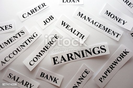 istock Words related with earning money 927474038
