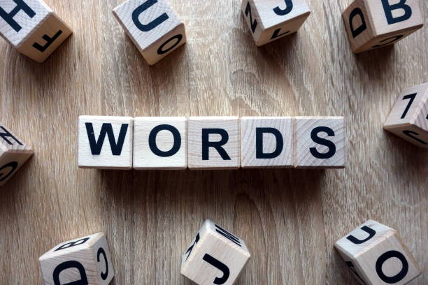 Words text from wooden blocks Words text from wooden blocks on desk single word stock pictures, royalty-free photos & images